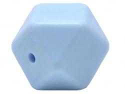 Acheter Lot de 3 perles géométriques de 14 mm en silicone - Bleu clair - 2,99€ en ligne sur La Petite Epicerie - Loisirs cré...
