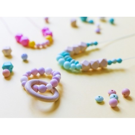 Acheter Lot de 5 perles rondes de 12 mm en silicone - Bleu ardoise foncé - 2,99€ en ligne sur La Petite Epicerie - Loisirs c...