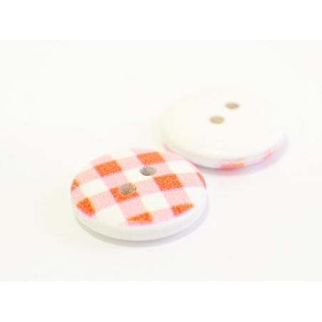 Acheter Bouton en bois 15 mm - vichy rouge - 0,49€ en ligne sur La Petite Epicerie - 100% Loisirs créatifs