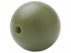 Acheter Lot de 5 perles rondes de 12 mm en silicone - Vert olive - 2,99€ en ligne sur La Petite Epicerie - Loisirs créatifs