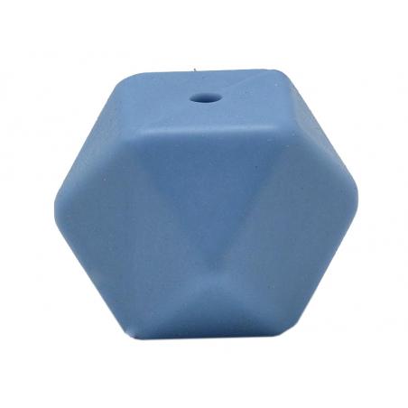 Acheter Lot de 3 perles géométriques de 14 mm en silicone - Bleuet - 2,99€ en ligne sur La Petite Epicerie - Loisirs créatifs