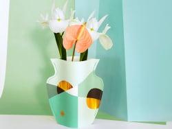 Acheter Petit vase en papier Octaevo - Siena menthe - 13,99€ en ligne sur La Petite Epicerie - Loisirs créatifs