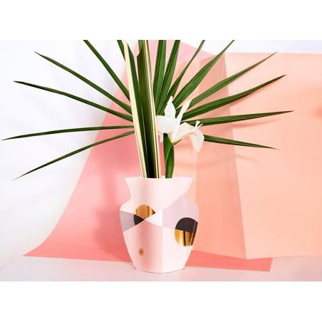 Acheter Petit vase en papier Octaevo - Siena rose - 13,99€ en ligne sur La Petite Epicerie - Loisirs créatifs