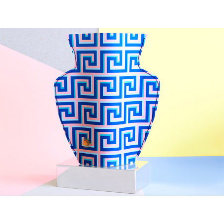 Acheter Grand vase en papier Octaevo - Icarus bleu - 22,99€ en ligne sur La Petite Epicerie - Loisirs créatifs