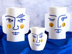 Acheter Grand vase en papier Octaevo - Janus - 22,99€ en ligne sur La Petite Epicerie - Loisirs créatifs