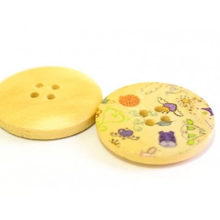 Wooden button (25 mm) - Dream