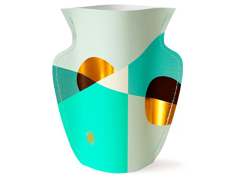 Acheter Grand vase en papier Octaevo - Siena menthe - 22,99€ en ligne sur La Petite Epicerie - Loisirs créatifs