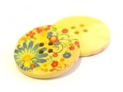 Wooden button (25 mm) - Hayflowers