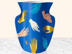 Acheter Petit vase en papier Octaevo - Hamsa bleu - 13,99€ en ligne sur La Petite Epicerie - Loisirs créatifs