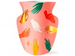 Acheter Petit vase en papier Octaevo - Hamsa rose - 13,99€ en ligne sur La Petite Epicerie - Loisirs créatifs