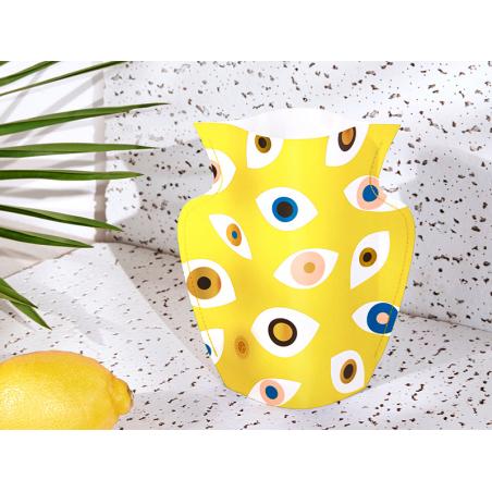 Acheter Petit vase en papier Octaevo - Nazar jaune - 13,99€ en ligne sur La Petite Epicerie - Loisirs créatifs