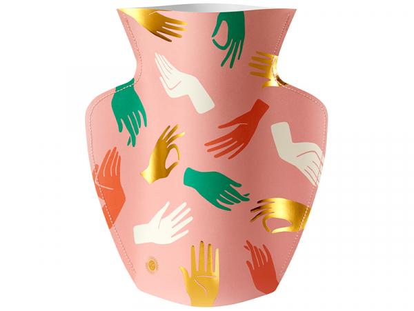 Acheter Grand vase en papier Octaevo - Hamsa rose - 21,99€ en ligne sur La Petite Epicerie - Loisirs créatifs