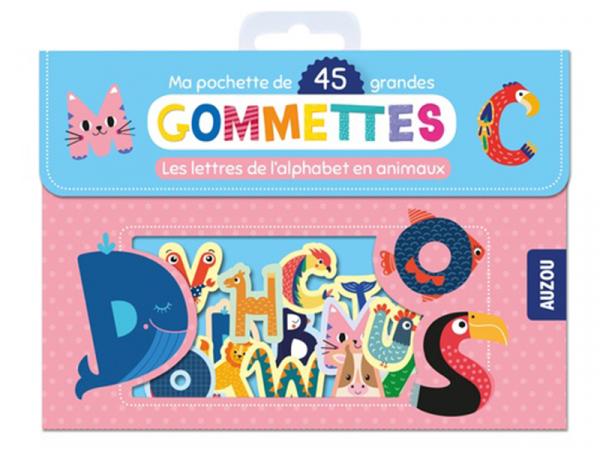 Acheter Pochette de 45 grandes gommettes - Les lettres de l'alphabet en animaux - 3,95€ en ligne sur La Petite Epicerie - Lo...