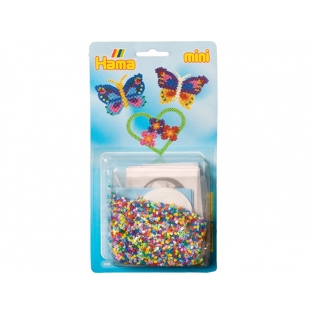 HAMA mini beads set - 2,000 beads and a pegboard