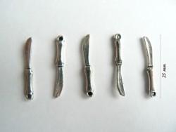 1 Messeranhänger - silberfarben
