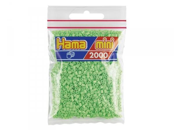 sachet de 2000 perles hama mini vert pastel. Black Bedroom Furniture Sets. Home Design Ideas