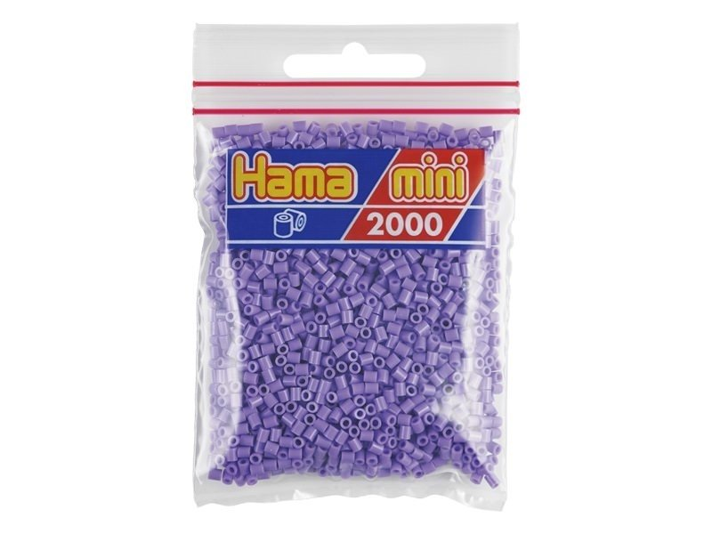 Bag of 2,000 HAMA MINI beads - pastel purple
