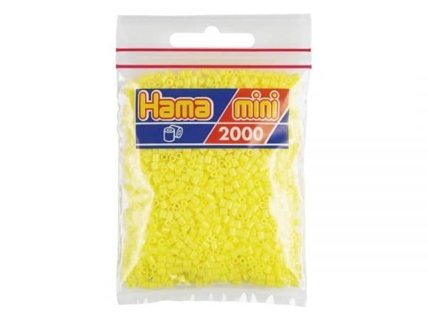 Sachet de 2000 perles HAMA MINI - jaune pastel 43