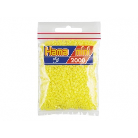 Acheter Sachet de 2000 perles HAMA MINI - jaune pastel 43 - 2,70€ en ligne sur La Petite Epicerie - Loisirs créatifs