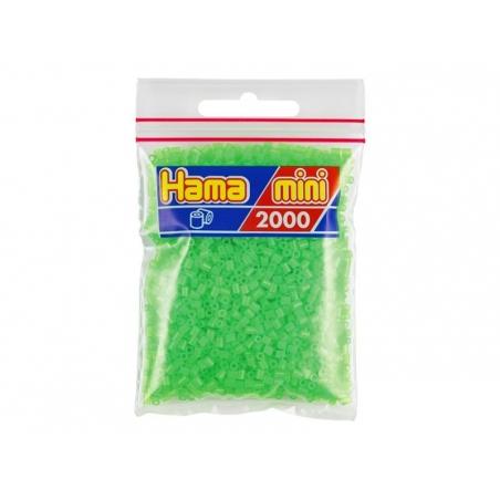 Sachet de 2000 perles HAMA MINI - vert fluorescent 42 Hama - 1