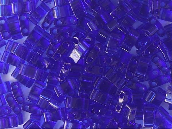 Acheter Perles Half Tila 2,3 mm - Matte Transparent Cobal TLH151 - 3,19€ en ligne sur La Petite Epicerie - Loisirs créatifs