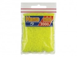 Bag of 2,000 HAMA MINI beads - fluorescent yellow