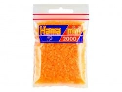 Sachet de 2000 perles HAMA MINI - orange néon