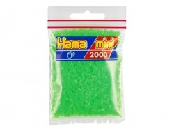 Bag of 2,000 HAMA MINI beads - neon green