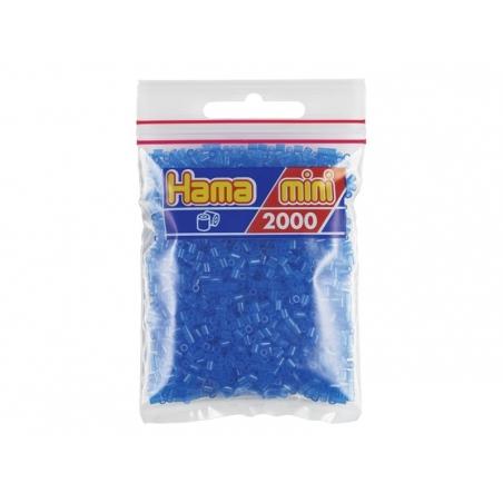 Sachet de 2000 perles HAMA MINI - bleu néon 36 Hama - 1