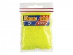 Bag of 2,000 HAMA MINI beads - neon yellow