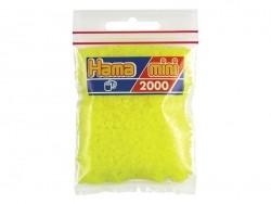 Sachet de 2000 perles HAMA MINI - jaune néon 34 Hama - 1