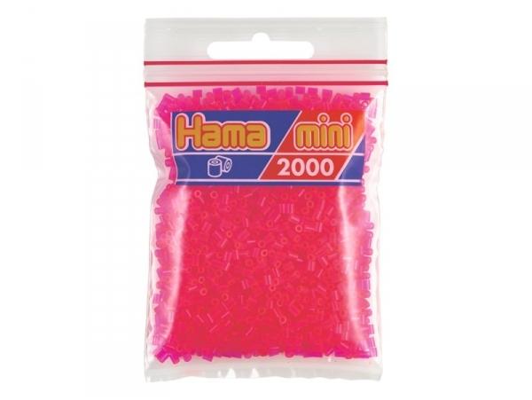 Bag of 2,000 HAMA MINI beads - neon fuchsia