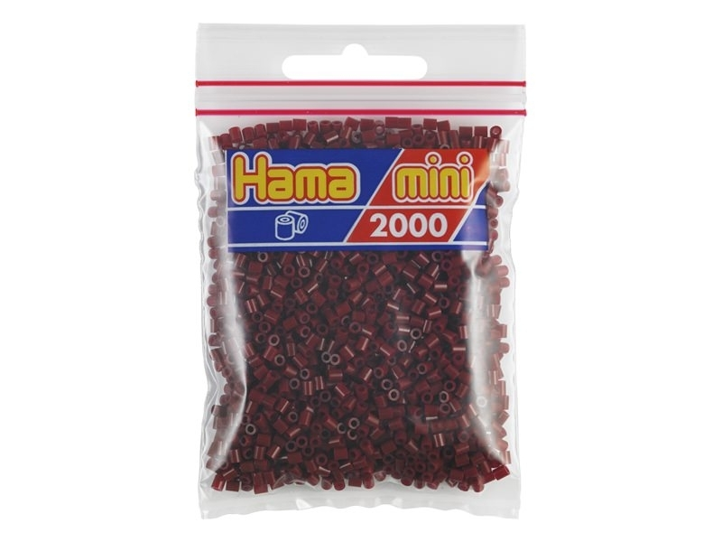Bag of 2,000 HAMA MINI beads - bordeaux