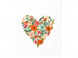 Acheter Affiche 20,3 x 25,4 cm - Coeur fleuri - 28,99€ en ligne sur La Petite Epicerie - Loisirs créatifs
