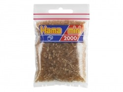 Sachet de 2000 perles HAMA MINI - brun transparent