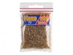 Tüte mit 2.000 HAMA-Mini-Perlen - durchsichtiges Braun