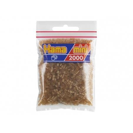 Bag of 2,000 HAMA MINI beads - transparent brown