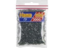 Bag of 2,000 HAMA MINI beads - transparent black