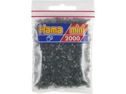Tüte mit 2.000 HAMA-Mini-Perlen - durchsichtiges Schwarz