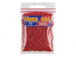 Bag of 2,000 HAMA MINI beads - Christmas red