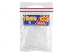 Bag of 2,000 HAMA MINI beads - transparent