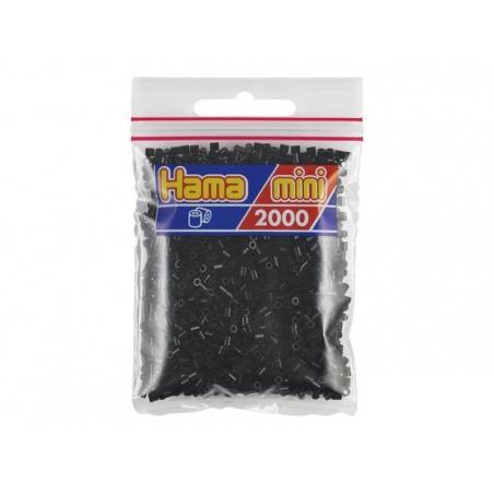 Bag of 2,000 HAMA MINI beads - black