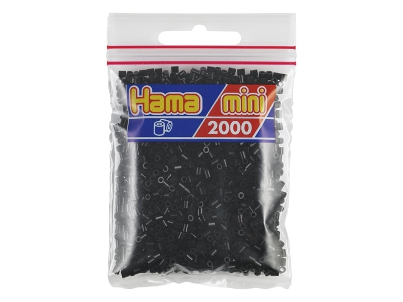 Sachet de 2000 perles HAMA MINI - noir 18 Hama - 1