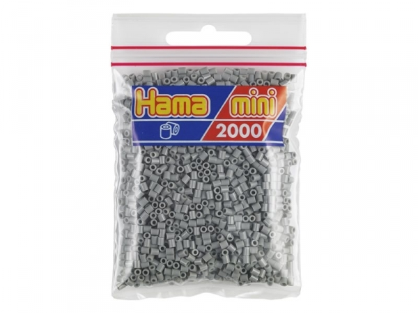 Bag of 2,000 HAMA MINI beads - grey