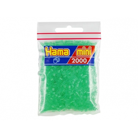 Sachet de 2000 perles HAMA MINI - vert transparent 16 Hama - 1