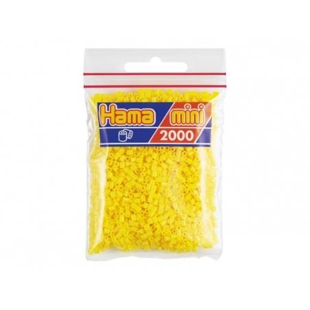 Sachet de 2000 perles HAMA MINI - jaune 03 Hama - 1