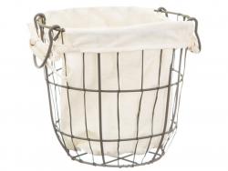Acheter Lot de 2 paniers rond en métal et doublure tissu - 22,99€ en ligne sur La Petite Epicerie - Loisirs créatifs