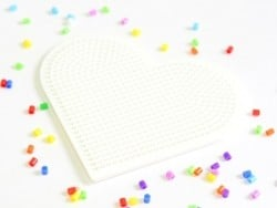 Pegboard for HAMA MINI beads - heart