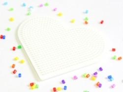 Acheter plaque support pour perles HAMA MINI - coeur - 2,99€ en ligne sur La Petite Epicerie - Loisirs créatifs
