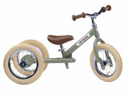 Acheter Pack vélo 2 en 1 : draisienne transformable en tricycle vintage vert - Trybike - 138,99€ en ligne sur La Petite Epic...
